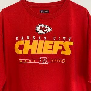NFL Kansas City Chiefs football Red T-Shirt Sz: XL